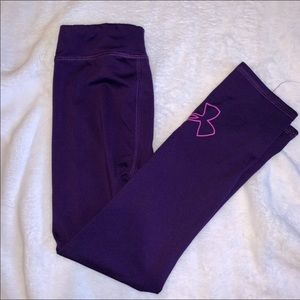 Girls under armour purple and pink leggings size 6